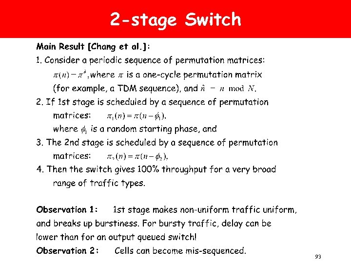 2 -stage Switch 93