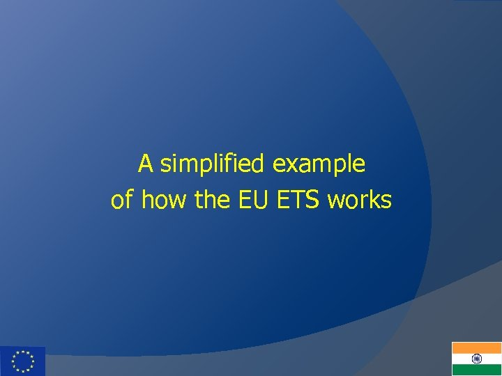 A simplified example of how the EU ETS works