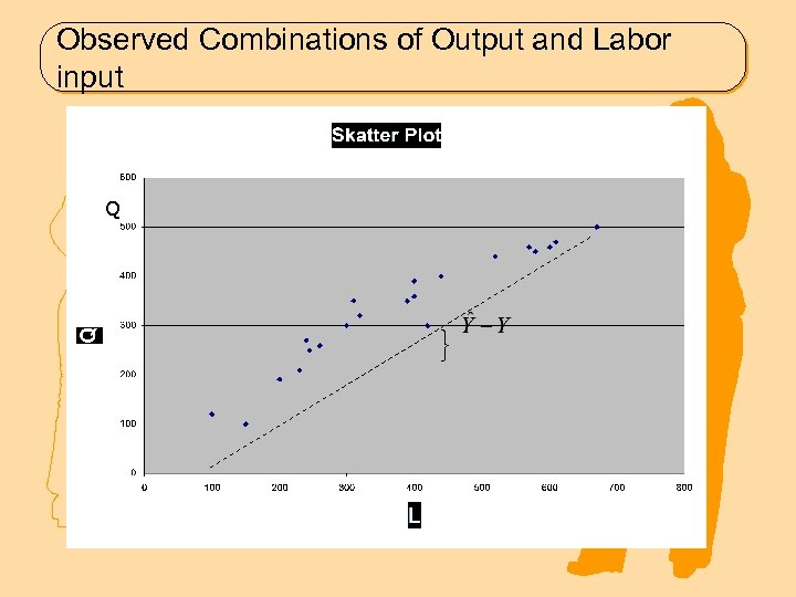 Observed Combinations of Output and Labor input Q