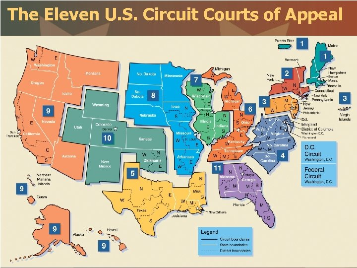 The Eleven U. S. Circuit Courts of Appeal