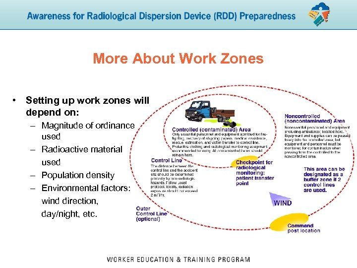 More About Work Zones • Setting up work zones will depend on: – Magnitude