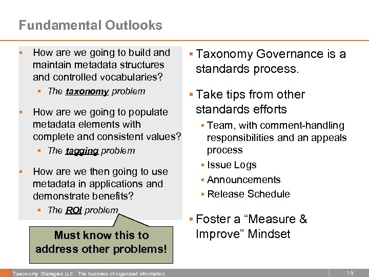 Fundamental Outlooks § How are we going to build and maintain metadata structures and