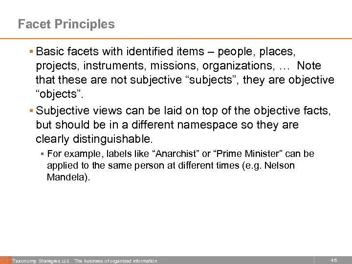 Facet Principles § Basic facets with identified items – people, places, projects, instruments, missions,