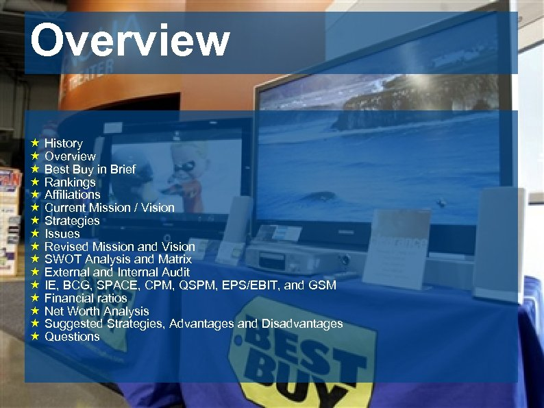 Overview « History « Overview « Best Buy in Brief « Rankings « Affiliations