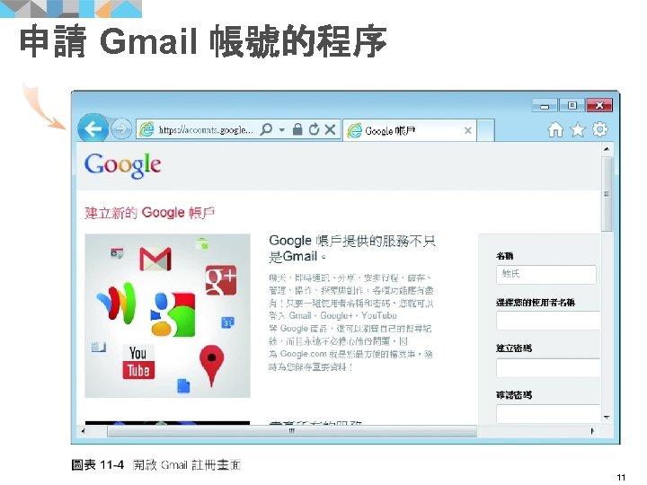申請 Gmail 帳號的程序 11