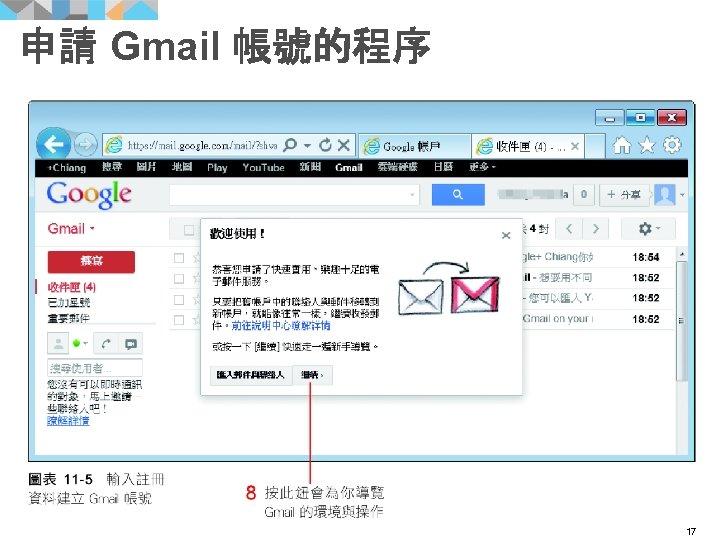 申請 Gmail 帳號的程序 17