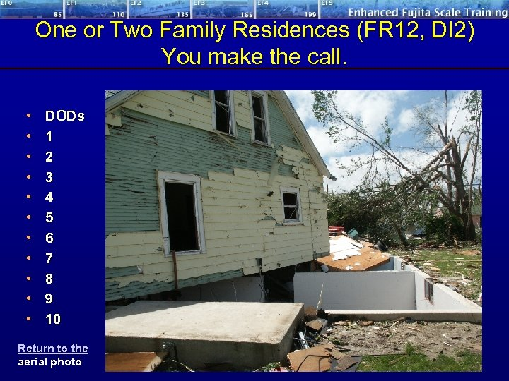 One or Two Family Residences (FR 12, DI 2) You make the call. •