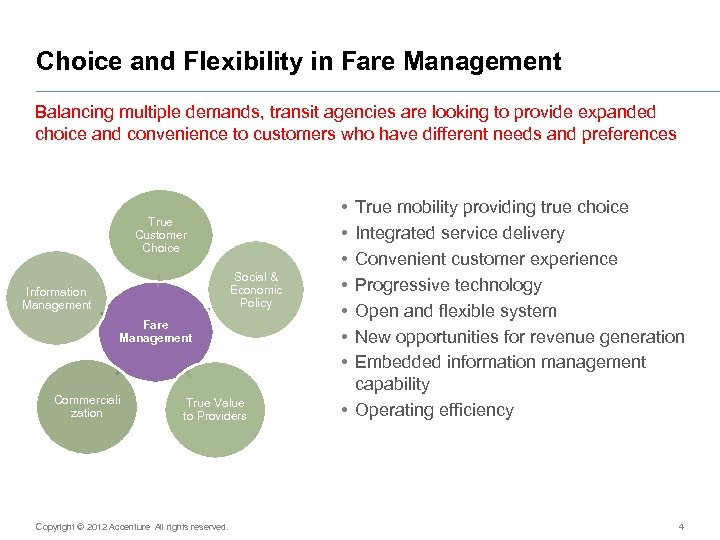Choice and Flexibility in Fare Management Balancing multiple demands, transit agencies are looking to