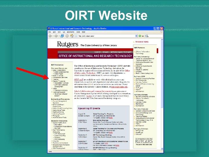OIRT Website