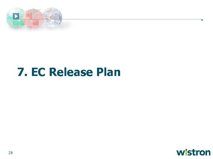 7. EC Release Plan 25