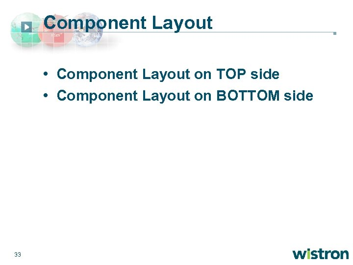 Component Layout • Component Layout on TOP side • Component Layout on BOTTOM side