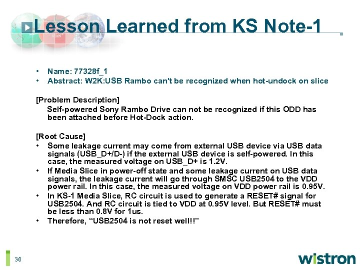 Lesson Learned from KS Note-1 • • Name: 77328 f_1 Abstract: W 2 K: