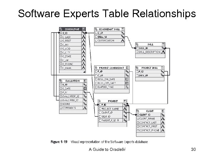 Software Experts Table Relationships A Guide to Oracle 9 i 30