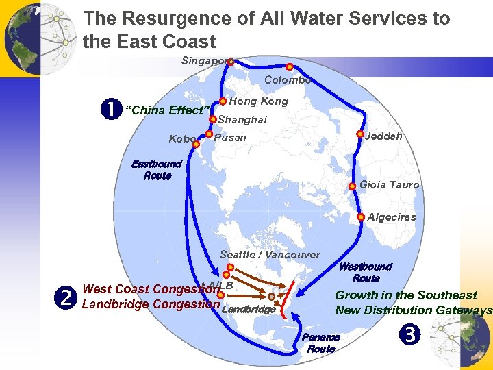 """The Resurgence of All Water Services to the East Coast Singapore Colombo """"China Effect"""""""