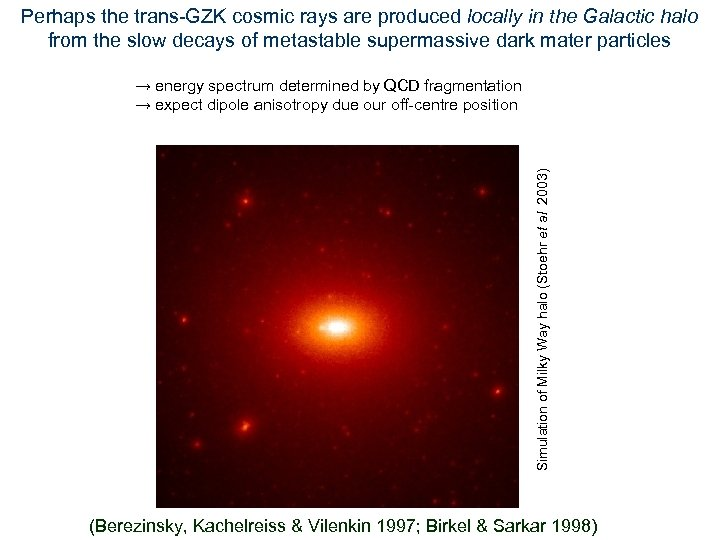 Perhaps the trans-GZK cosmic rays are produced locally in the Galactic halo from the