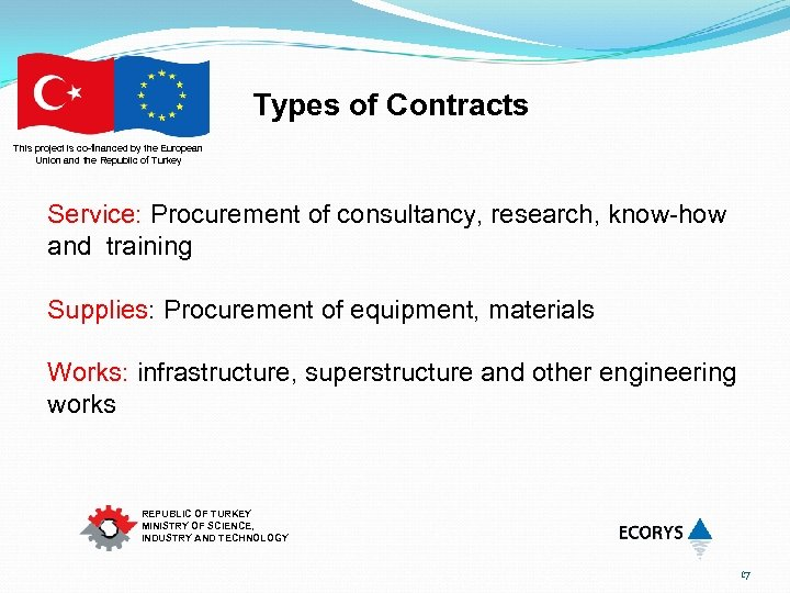 Types of Contracts This project is co-financed by the European Union and the Republic