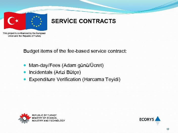 SERVİCE CONTRACTS This project is co-financed by the European Union and the Republic of