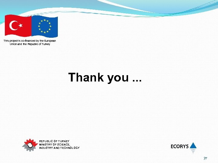 This project is co-financed by the European Union and the Republic of Turkey Thank