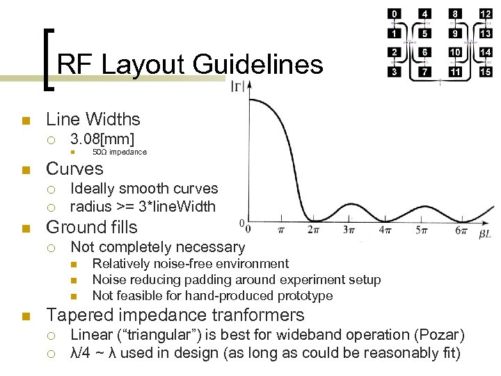 RF Layout Guidelines n Line Widths ¡ 3. 08[mm] n n Curves ¡ ¡