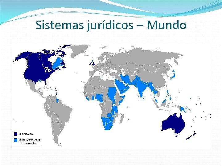 Sistemas jurídicos – Mundo