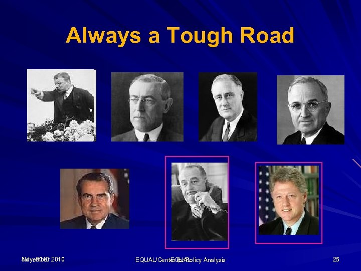 Always a Tough Road November July, 2010 EQUAL/Center for Policy Analysis EQUAL 25