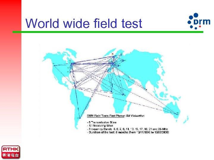 World wide field test