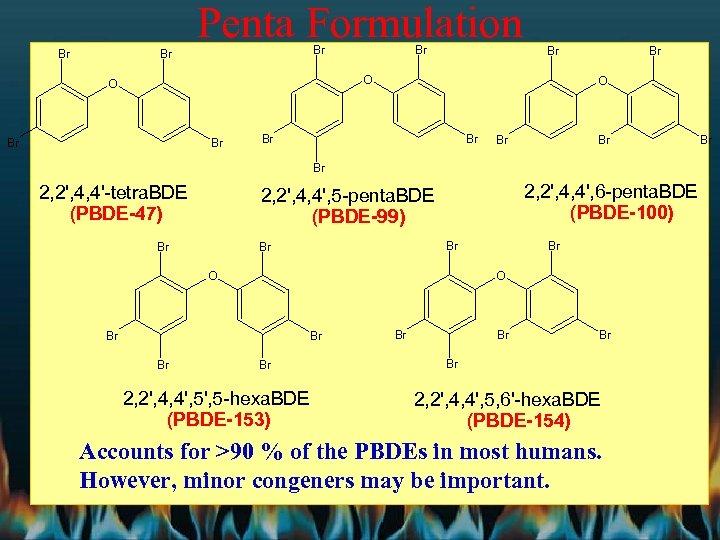 Penta Formulation Br Br Br O O Br Br Br 2, 2', 4, 4'-tetra.