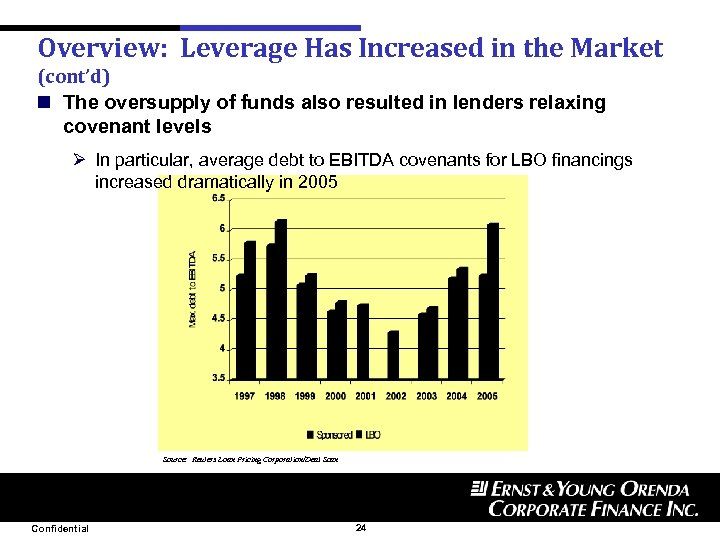Overview: Leverage Has Increased in the Market (cont'd) n The oversupply of funds also