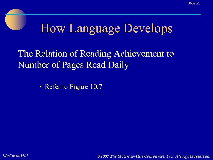 Slide 25 How Language Develops The Relation of Reading Achievement to Number of Pages