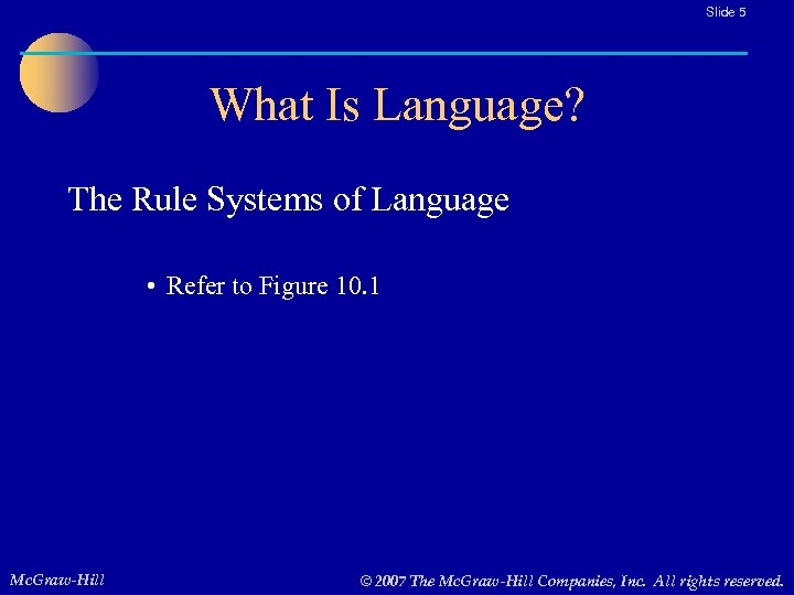 Slide 5 What Is Language? The Rule Systems of Language • Refer to Figure