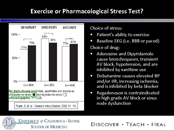 Exercise or Pharmacological Stress Test? Choice of stress: § Patient's ability to exercise §