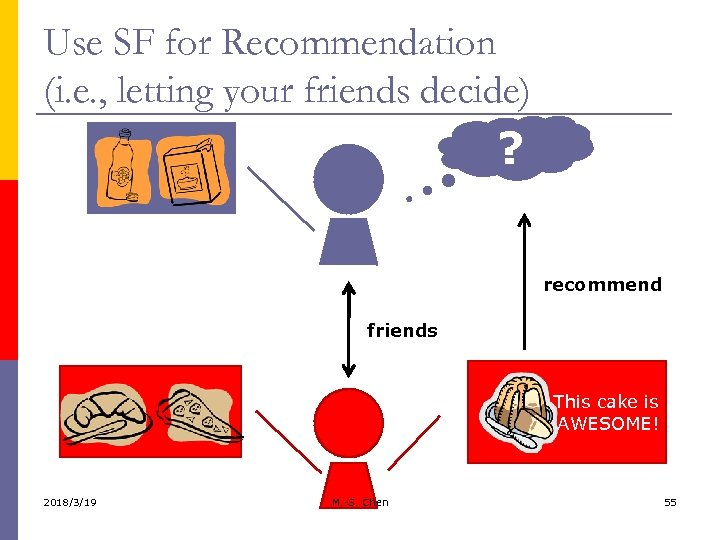 Use SF for Recommendation (i. e. , letting your friends decide) ? recommend friends