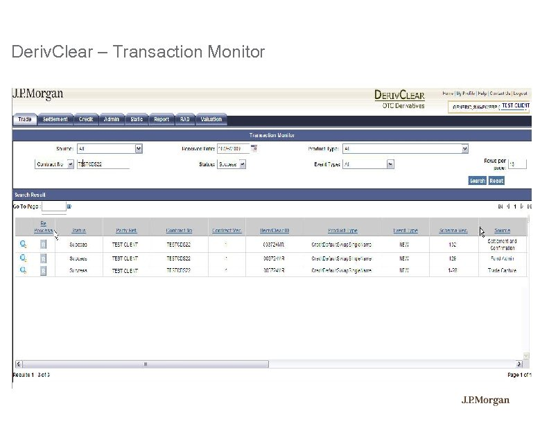 Deriv. Clear – Transaction Monitor