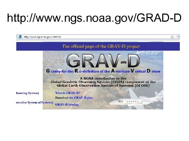 http: //www. ngs. noaa. gov/GRAD-D