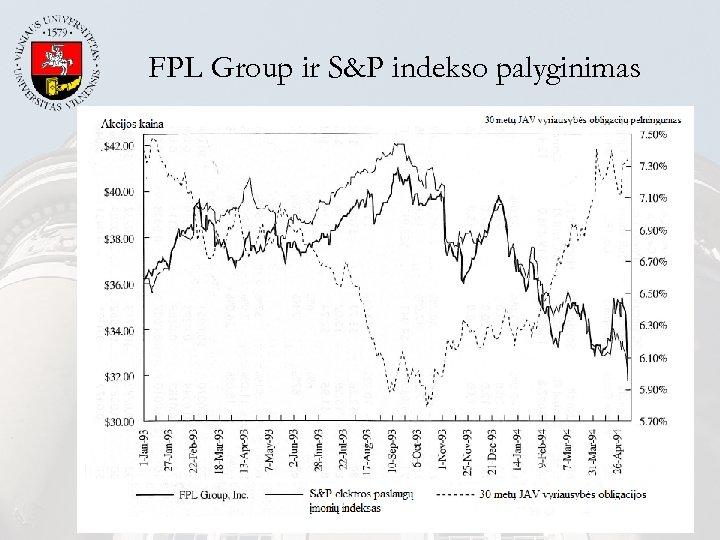 FPL Group ir S&P indekso palyginimas