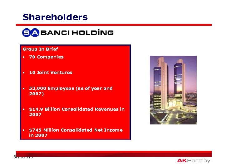 Shareholders Group In Brief • 70 Companies • 10 Joint Ventures • 52, 000