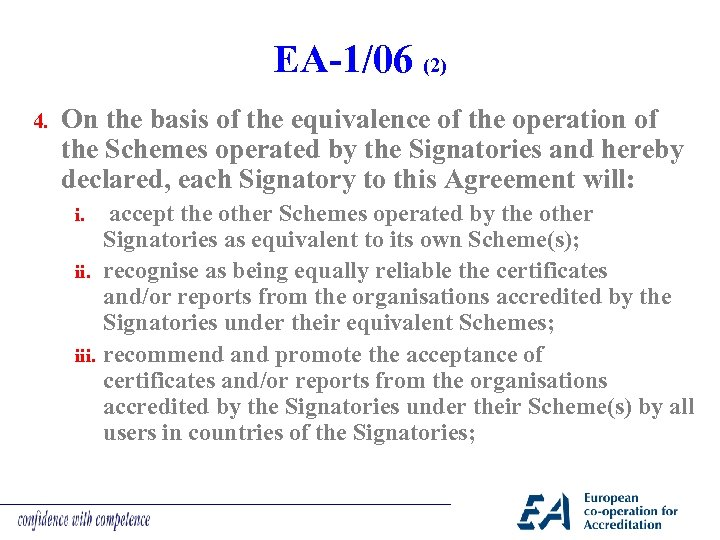 EA-1/06 (2) 4. On the basis of the equivalence of the operation of the