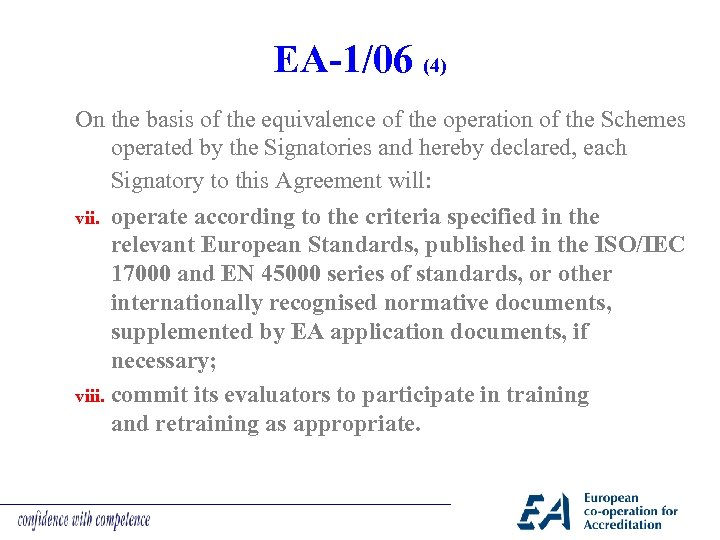 EA-1/06 (4) On the basis of the equivalence of the operation of the Schemes