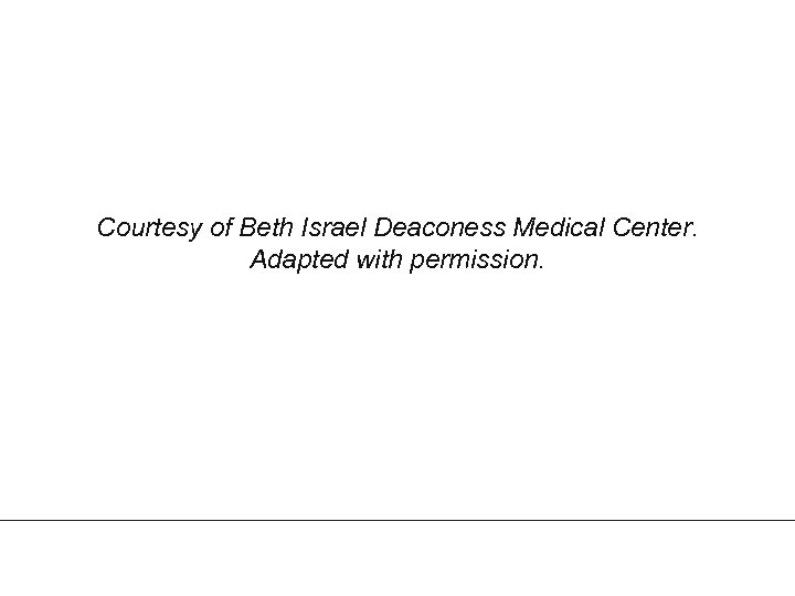 Courtesy of Beth Israel Deaconess Medical Center. Adapted with permission.