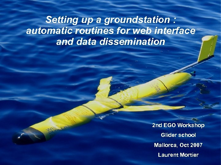 Setting up a groundstation : automatic routines for web interface and data dissemination 2