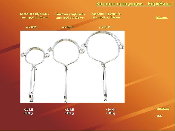 Каталог продукции Карабин «Трубный» для труб до 75 мм ver 0229 25 k. N