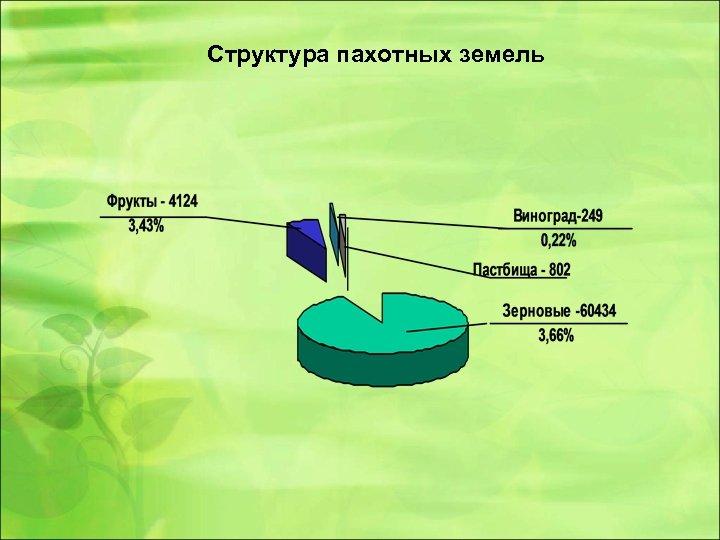 Структура пахотных земель