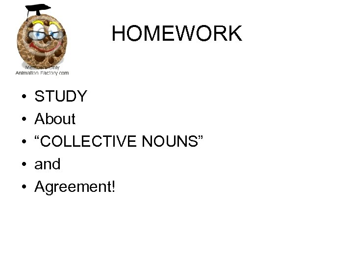 """HOMEWORK • • • STUDY About """"COLLECTIVE NOUNS"""" and Agreement!"""