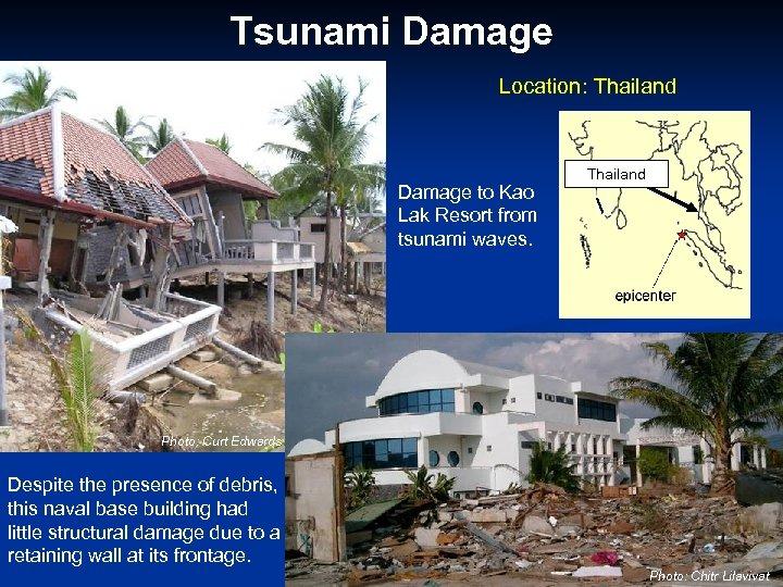 Tsunami Damage Location: Thailand Damage to Kao Lak Resort from tsunami waves. Thailand Photo: