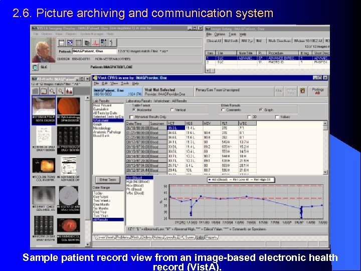 2. 6. Picture archiving and communication system Sample patient record view from an image-based