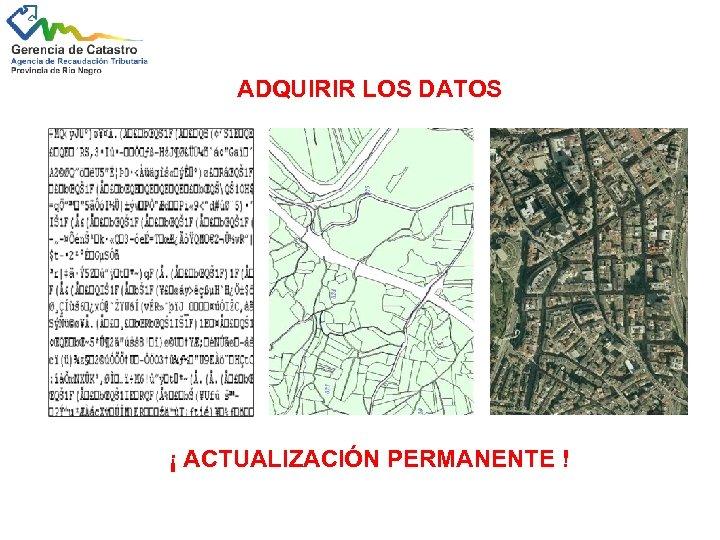 ADQUIRIR LOS DATOS ¡ ACTUALIZACIÓN PERMANENTE !
