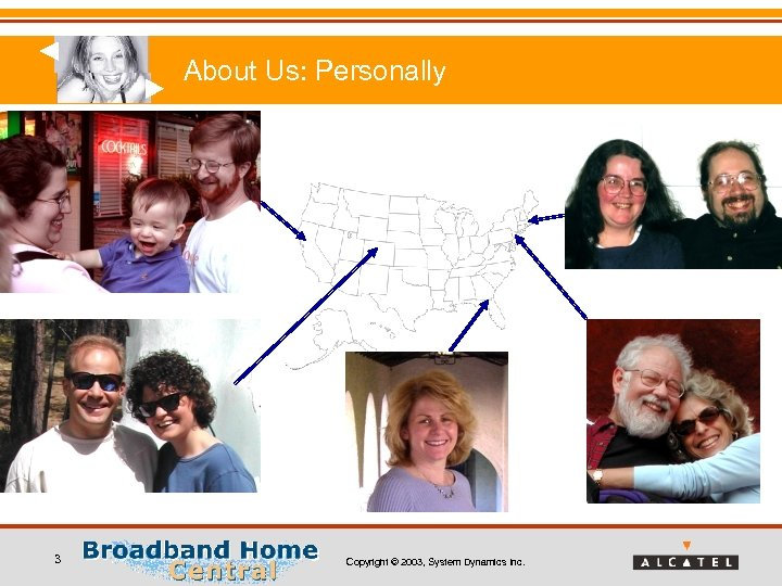 About Us: Personally 3 Copyright © 2003, System Dynamics Inc.