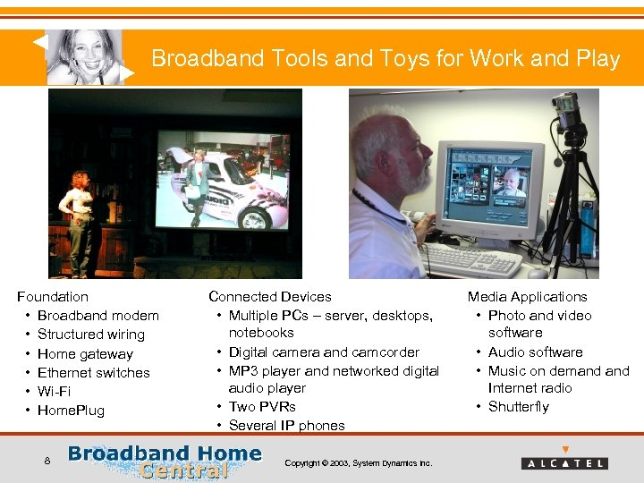 Broadband Tools and Toys for Work and Play Foundation • Broadband modem • Structured