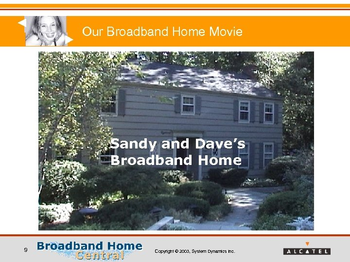 Our Broadband Home Movie Sandy and Dave's Broadband Home 9 Copyright © 2003, System