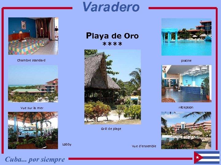 Varadero Playa de Oro **** Chambre standard piscine Vue sur la mer réception Grill